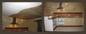 Rénovation studio Bages (Aude) - cuisine